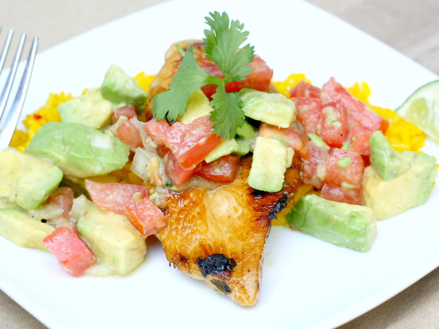 Bitchin' Kitchen: Cilantro-Lime Chicken with Avocado Salsa