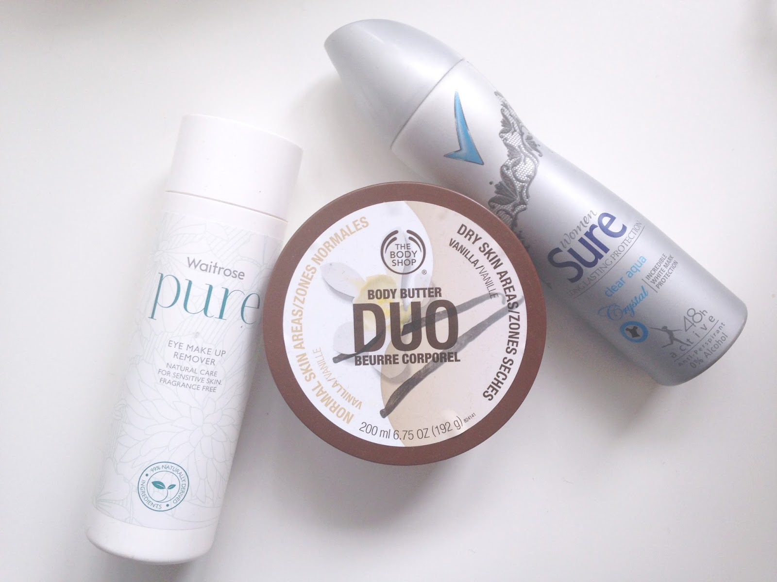 Sure Invisible Body Butter Duo Pure Eye Makeup Remover