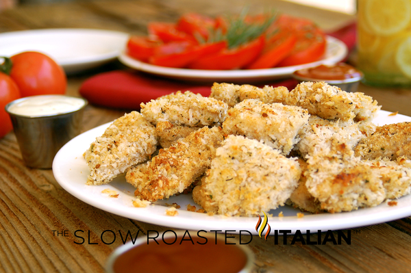 Healthy Homestyle Baked Chicken Nuggets