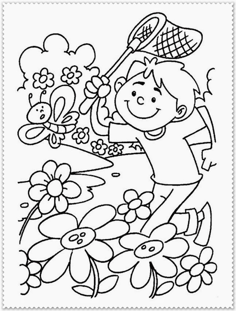 Spring coloring pages printable realistic coloring pages Coloring book for kid free download