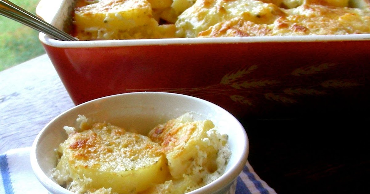Three-Cheese Potatoes Au Gratin