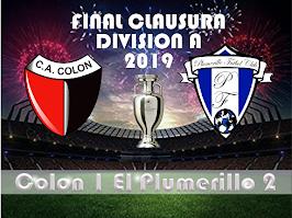 Plumerillo Campeón Clausura 2019