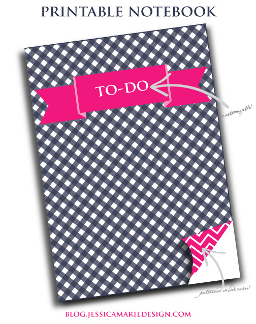 Printable 5x7in. notebook from Jessica Marie Design
