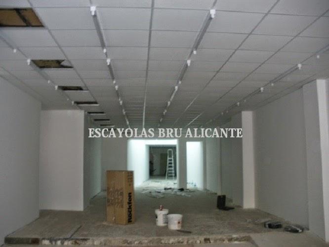 Escayolas bru alicante techos desmontables for Faux plafond magasin