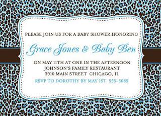 Bunny prints little dude leopard print baby shower invitations for boys little dude leopard print baby shower invitations for boys filmwisefo