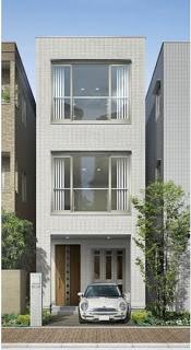 Fachadas de casas modernas fachada de casa moderna de 4 for Casas largas y angostas