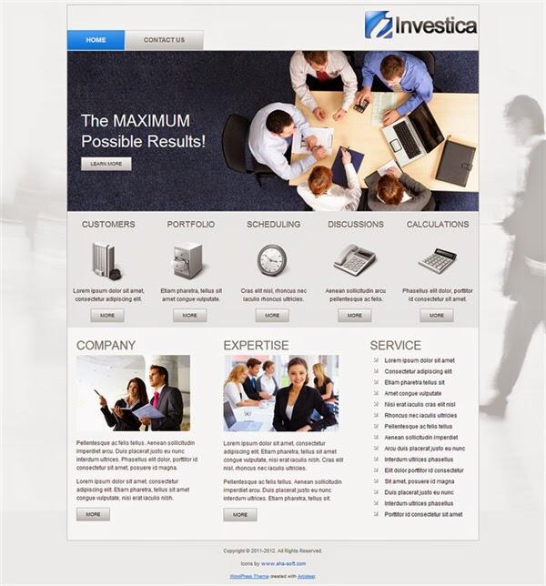 Investica - Free Wordpress Theme