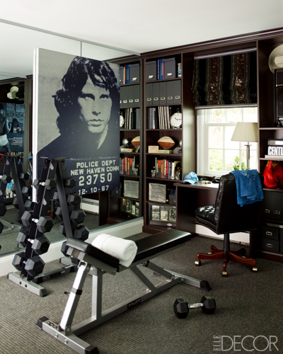 Home Exercise Equipment Small Space: All Things Luxurious: House Tour: Sandra Lee