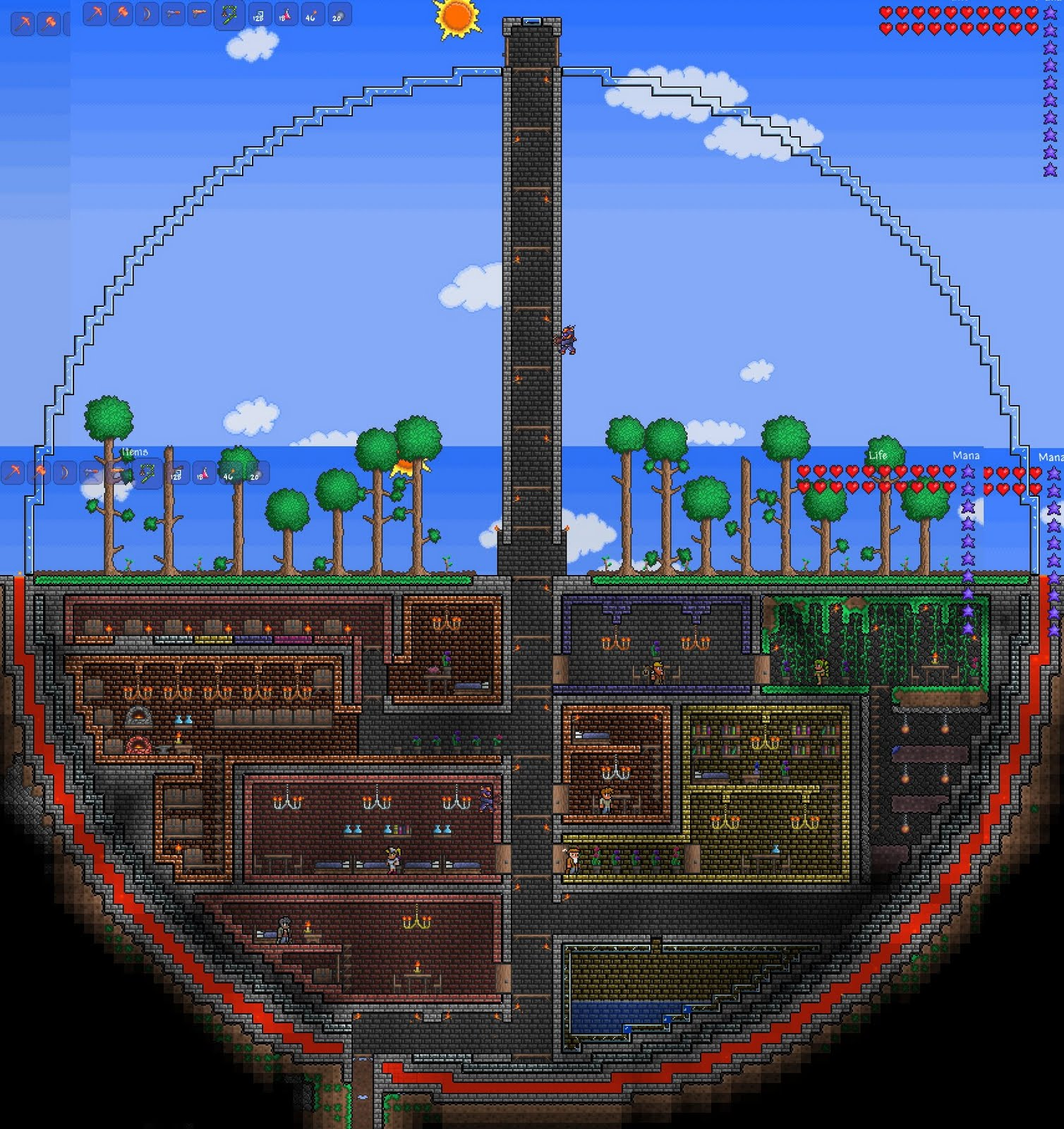 how to make a cool base in terraria