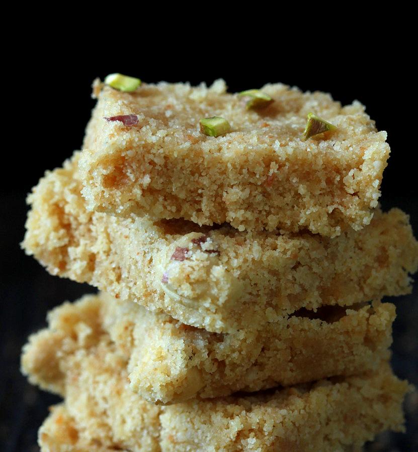 Coconut Rava Ladoo and Burfi – Coconut Semolina Cashew Sweet Balls ...