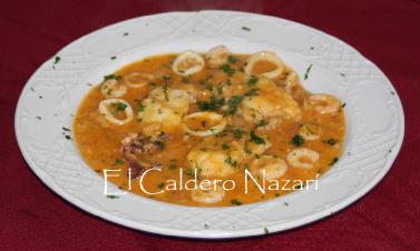 Elcalderonazari recetas zarzuela de pescado y mariscos for Cocinar zarzuela