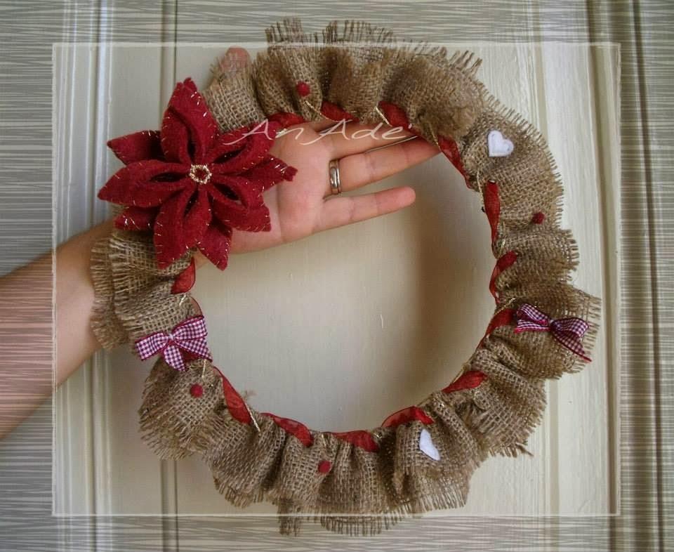 Creazioni anade 39 natale - Corone natalizie da appendere alla porta ...