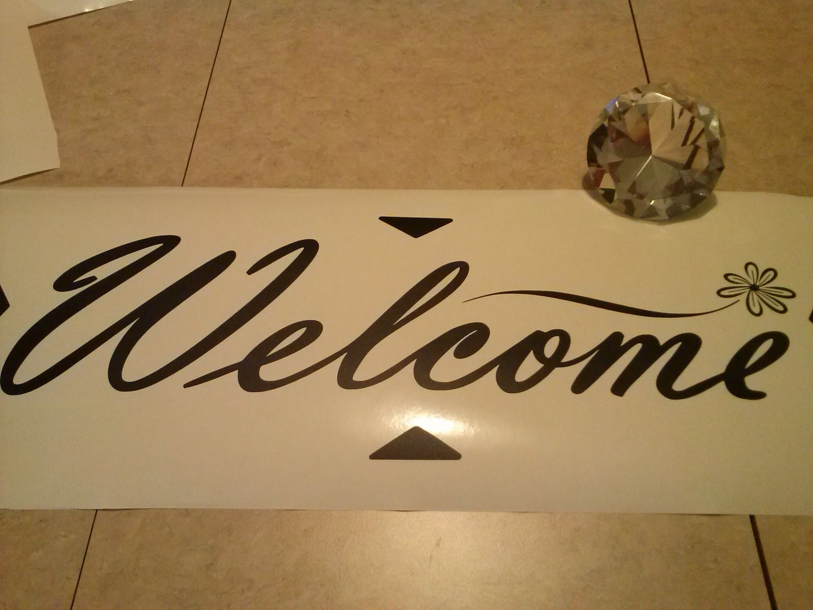 Vinyl Wall Decal Welcome