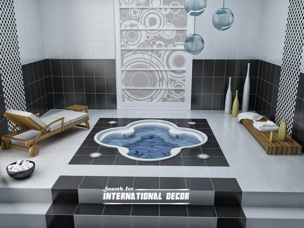 bathroom decor trends,bathroom design ideas,center bathtub