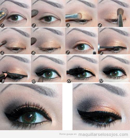 Maquillaje para ojos paso a paso variado for Como pintarse los ojos de negro