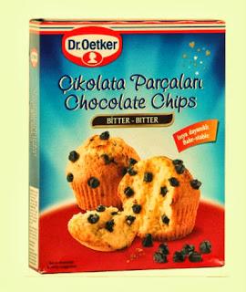Kakaolu Muffin Tarifi, Çikolata Parçacıkları, Dr Oetker Çikolata Parçacıkları, Dr Oetker Chocolate Chips