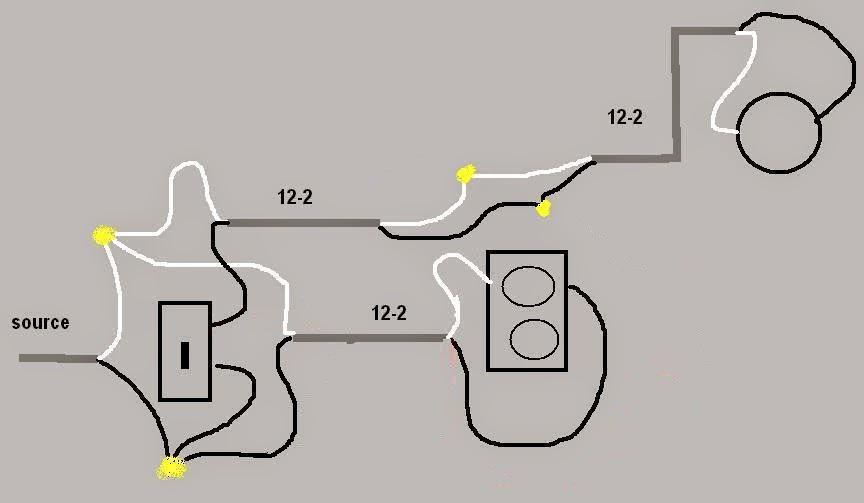 electric work  fan light wiring diagram