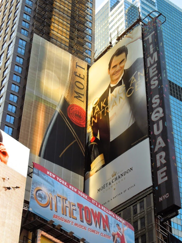Moet Champagne Making an entrance billboard Times Square