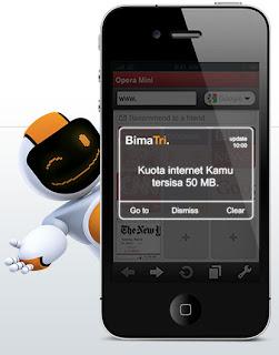 Aplikasi Bima Tri Untuk Android, BlackBerry Dan iPhone