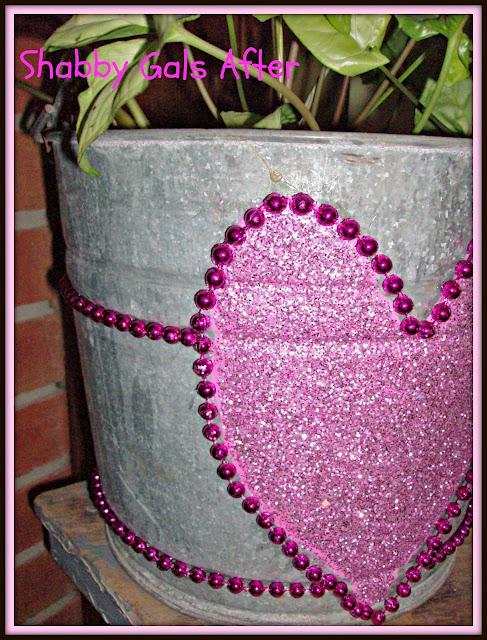 Valentine's sparkle bucket
