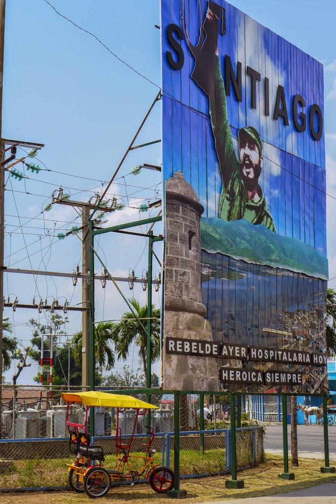 Santiago de Cuba outdoor signage