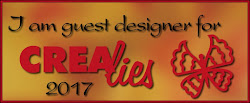 Proud to be a Guest Designer for Crealies