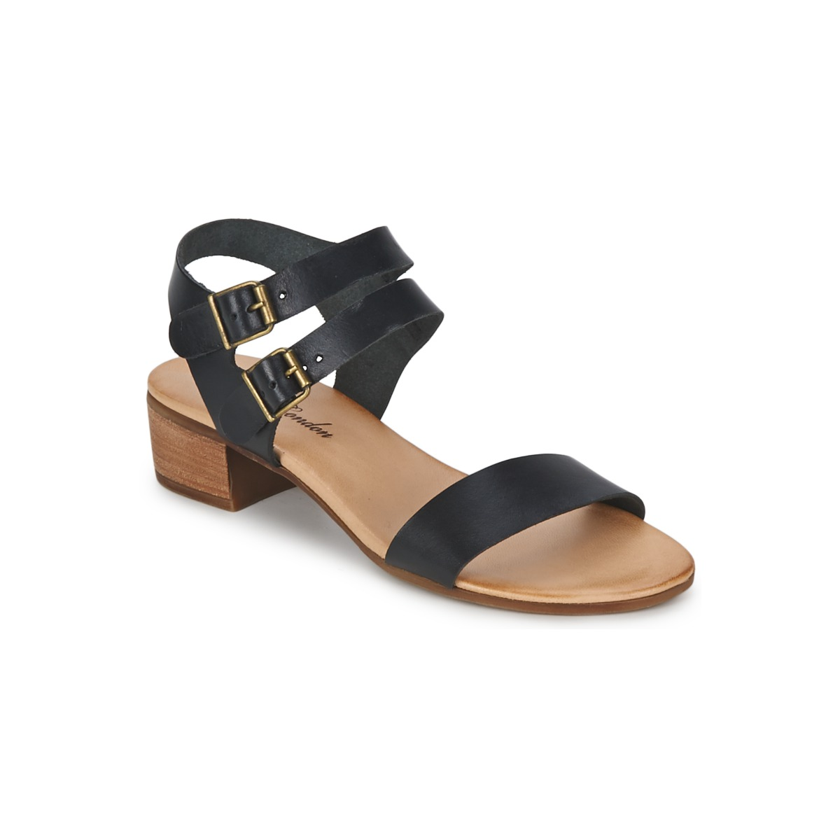 betty london simple block heel sandal