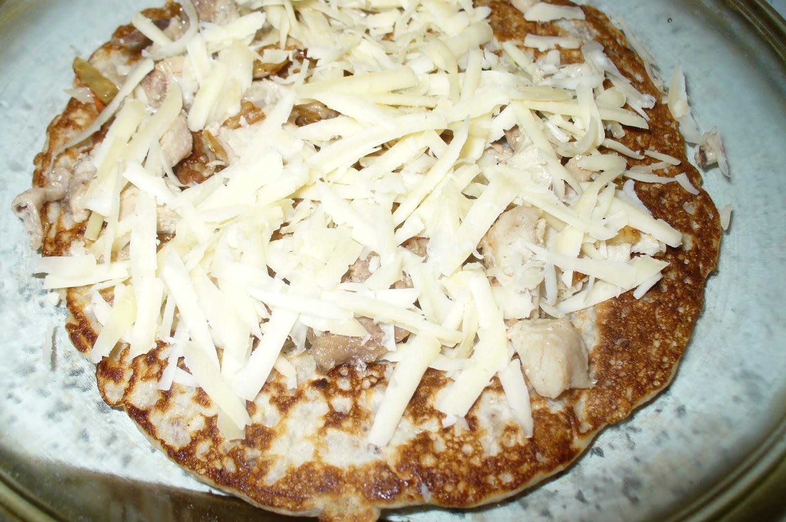 блинчатый пирог сырный слой