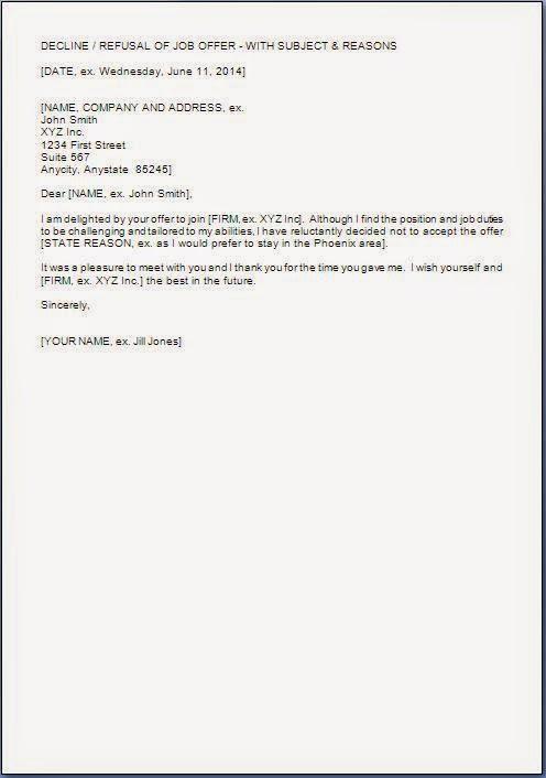 Job Rejection Letters