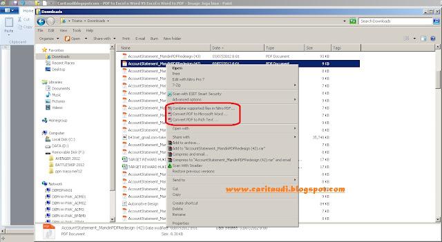 PDF to Excel n Word VS Excel n Word to PDF : Image Juga bisa