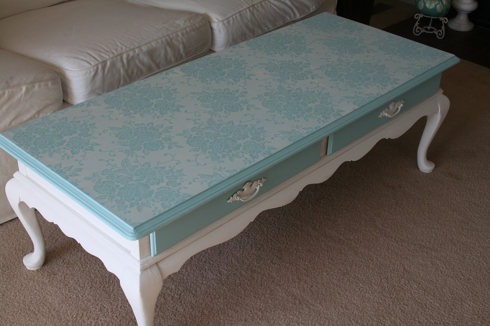 For the love of white chalk paint coffee table project Painted coffee table