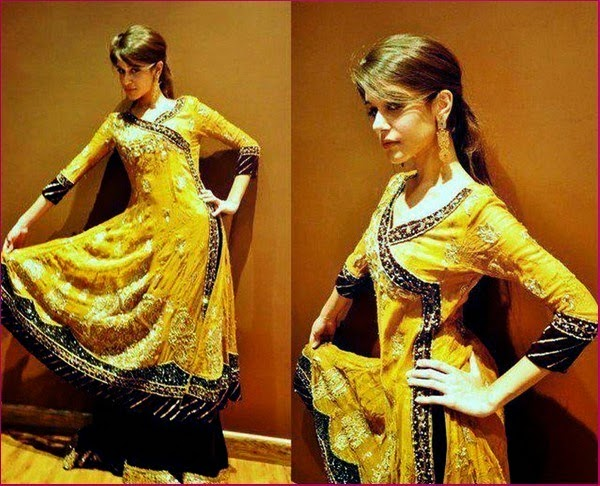 Mehndi Ceremony Outfits : Pakistani mehndi dresses designs