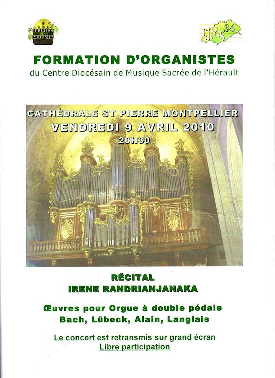 Concert du CDMS34, cathédrale de Montpellier, 9 avril 2010