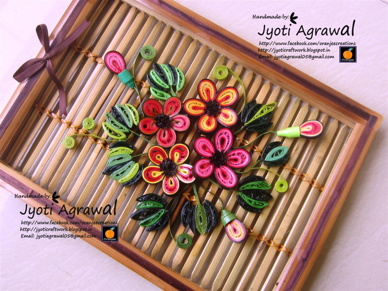 My craft work : Quillingwalldecor2 from jyoticraftwork.blogspot.com size 1440 x 1080 jpeg 265kB