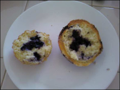 blueberry muffin with top unscrewed