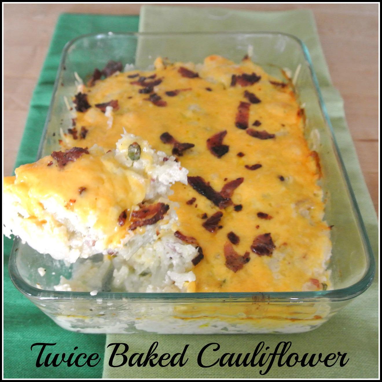 Mom, What's For Dinner?: Twice Baked Cauliflower