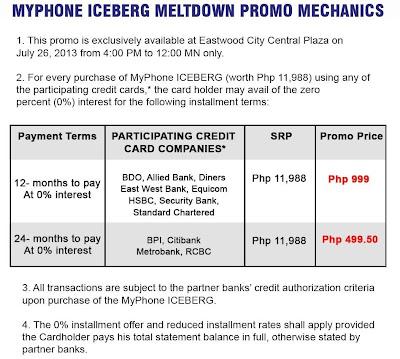 myphone iceberg promo