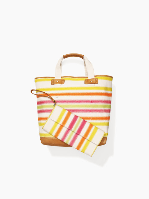 Striped tote bag clutch Surf Shack Tommy Hilfiger Summer 2013