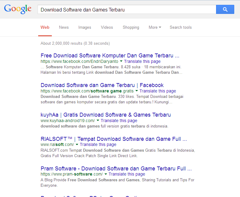 Search-ing Tempat Download Software dan games Terbaru