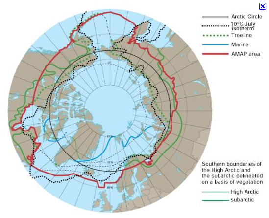 The full Arctic area of interest -- and what birds MIGHT tell us about how it is changing...