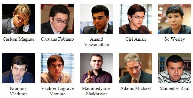 Les 12 participants du 2e Mémorial d'échecs Vugar Gashimov