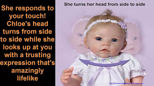 So Truly Real Lifelike Baby Doll Chloes Look Of Love by Ashton Drake Realistic Dolls What A Doll Toy