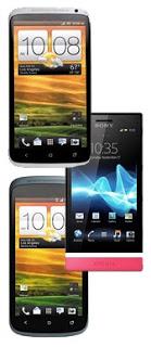 HTC One X, One S and Sony Xperia U photo