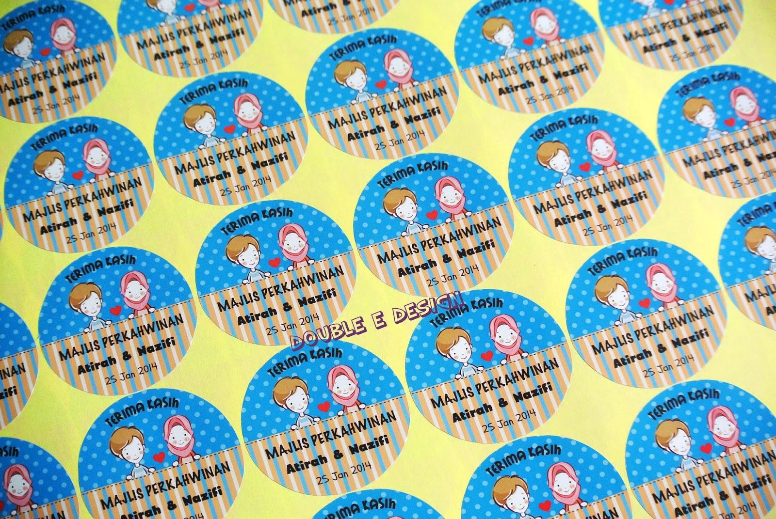 double ed sticker terima kasih 1000pcs