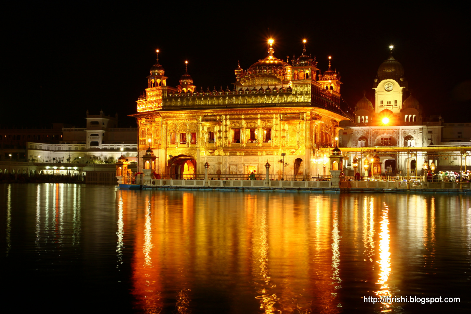 this is me: golden temple, amritsar, at night