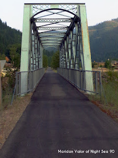 Pictures from the Idaho Mountains; a bike/walking bridge. Night Sea 90.