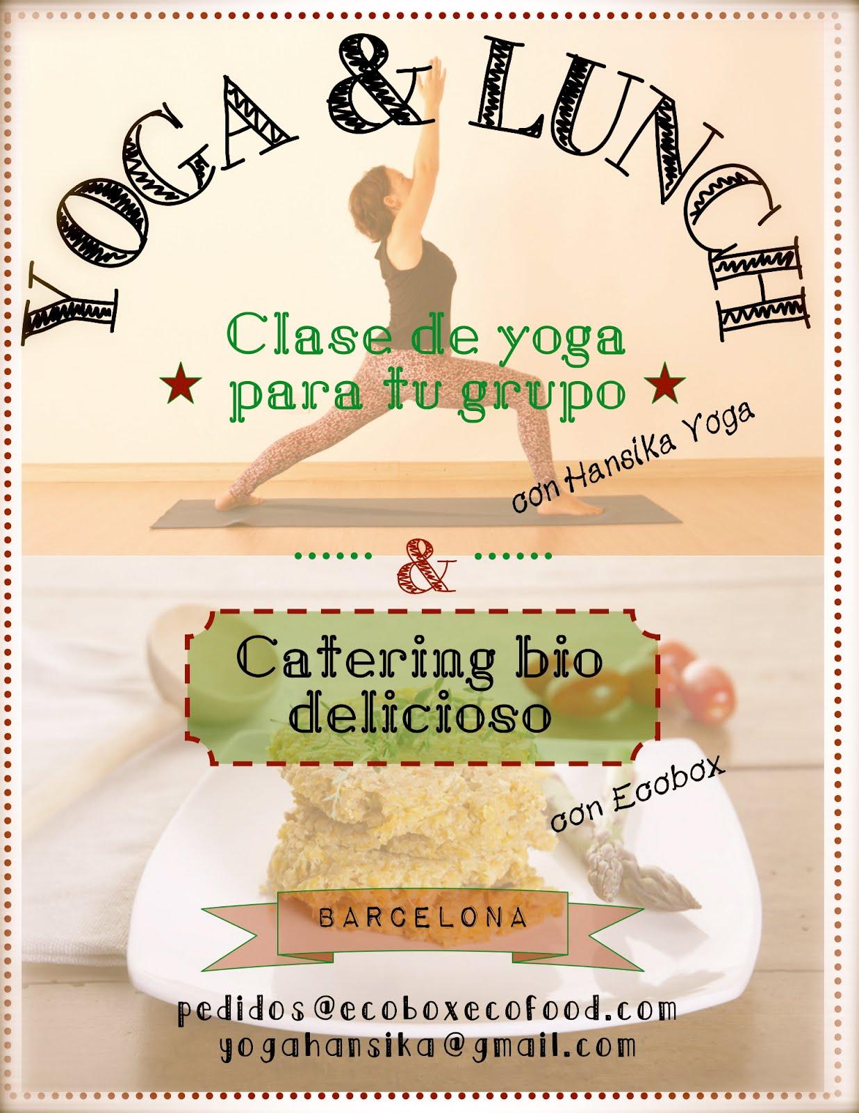 Clase de yoga + catering bio