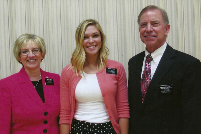 Sister Ramsey with her mission president & his wife: President and Sister Curtis