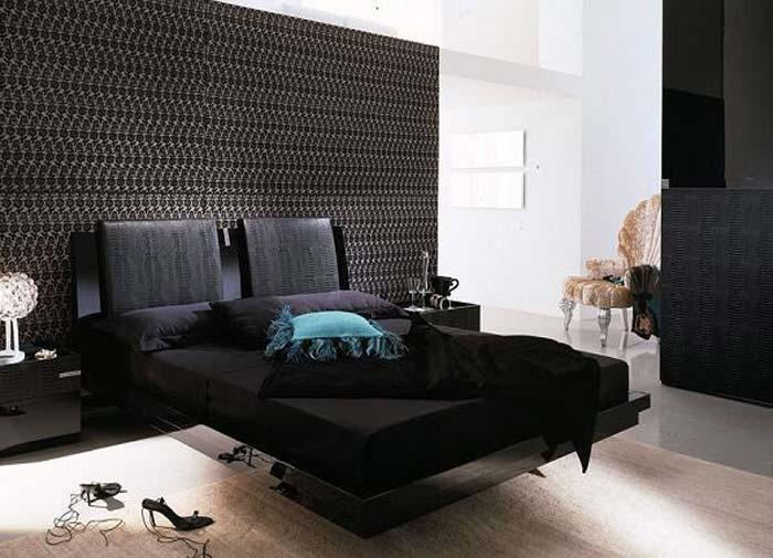Interior Design 2012: Decoración de Dormitorio en Negro con Muebles ...