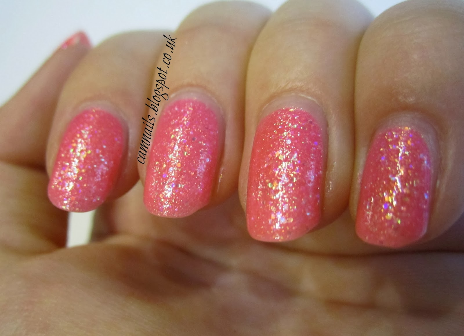 Cambridge Nails: Sinful Colours Pinky Glitter